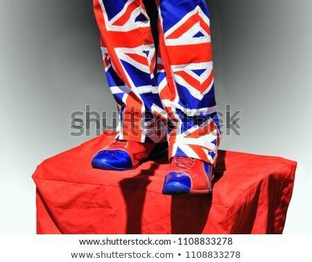 Brit zászló nadrág cipők utca előadó visel Stock fotó © Snapshot