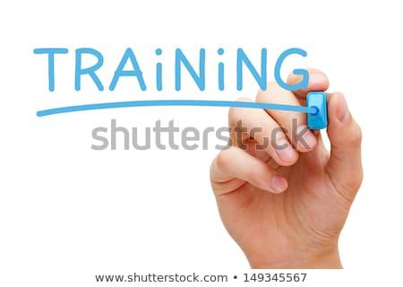 enseignement · bleu · marqueur · main · écrit - photo stock © ivelin