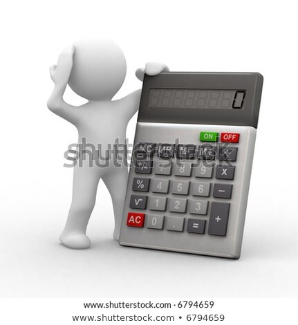 3d human with a calculator stock photo © cherezoff