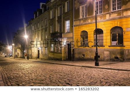 новых · города · Варшава · исторический · домах · улиц - Сток-фото © rognar