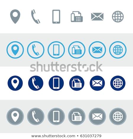 Info bleu vecteur icône bouton web Photo stock © rizwanali3d