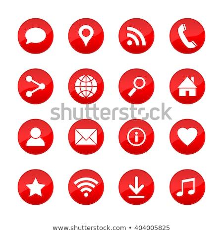 Info rouge vecteur icône design numérique Photo stock © rizwanali3d