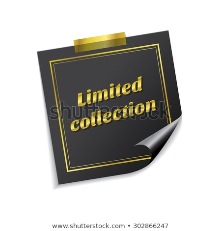 Limited Collection Golden Sticky Notes Vector Icon Design Stock photo © rizwanali3d