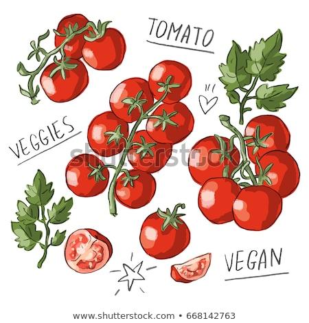 Beautiful bunch of tomatos Stock photo © somdul