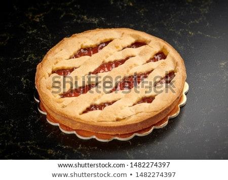 tarte · cerise · confiture · maison · tarte · pur - photo stock © yuliyagontar