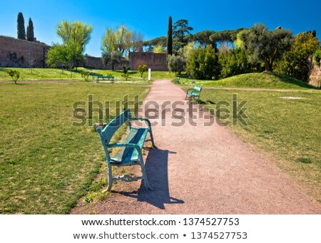 Palatine Hill in Rome green park and walkway view Stock photo © xbrchx
