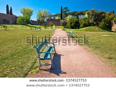 colina · Roma · verde · parque · vista · primavera - foto stock © xbrchx