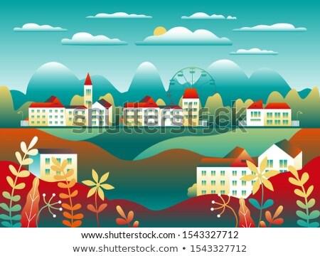 風景 国 モチーフ ファーム 美しい ストックフォト © cosveta