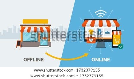Online vásárlás internet gazdaság dilemma vásárol Stock fotó © Lightsource
