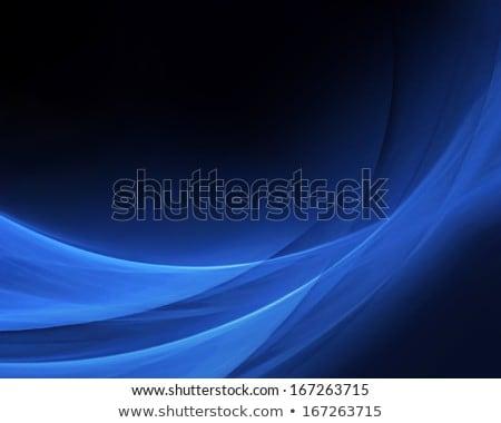 Niebieski streszczenie sztuki jedwabiu tekstury fali Zdjęcia stock © Anneleven