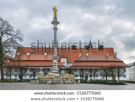 Oszlop Németország tér város utazás szobor Stock fotó © borisb17
