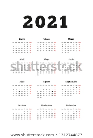 Año simple calendario espanol tamaño vertical Foto stock © evgeny89