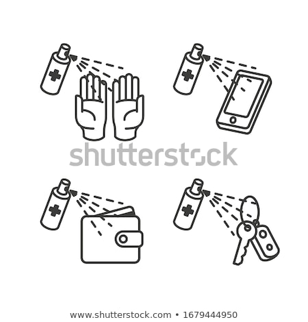 disinfection mobile phone icon vector outline illustration Stock photo © pikepicture