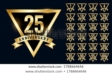 luxury golden anniversay labels and emblem logotype set Stock photo © SArts