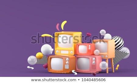 tv · készülék · képernyő · modern · fehér · 3d · illusztráció · televízió - stock fotó © melvin07