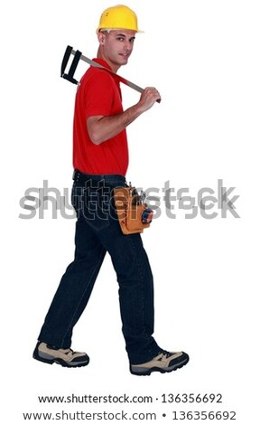 Man holding large caliper Stock photo © photography33