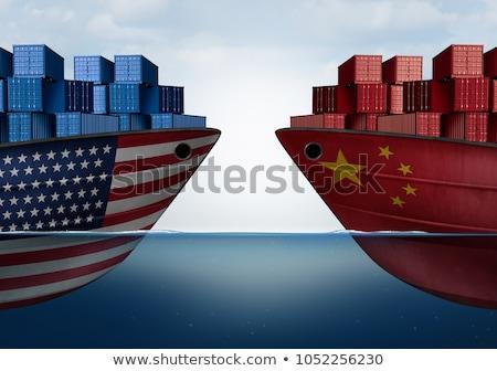 米国 · 中国 · 貿易 · 戦争 · アメリカン · 2 - ストックフォト © devon