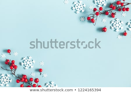 winter background with snowflakes in blue stock photo © marinini