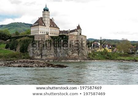 ストックフォト: 城 · オーストリア · ドナウ川 · 川 · 谷 · 空