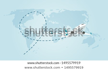 Flying airplane Stock photo © zzve