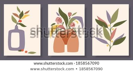 abstract · beige · bloem · vector · patroon · textuur - stockfoto © helenstock