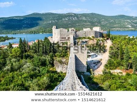 Houses and architecture of Croatian city Ston  Stock photo © tannjuska