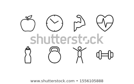 health and fitness icon set series stock photo © krisdog