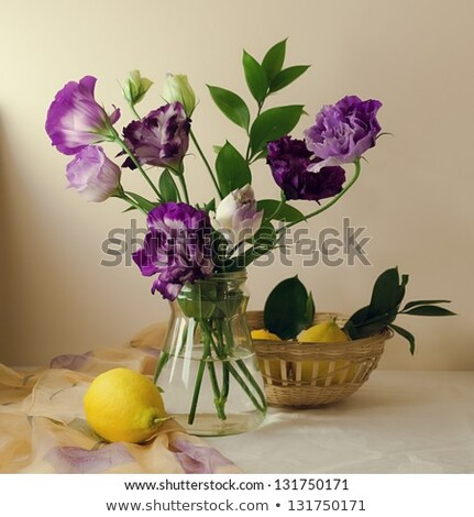eustoma flowers in a glass jar Stock photo © manera