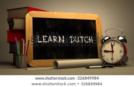 Aprender holandês quadro-negro turva escrita Foto stock © tashatuvango