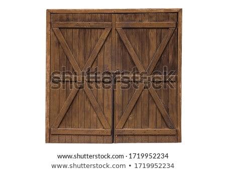древесины дверей выветрившийся Vintage архитектура Сток-фото © lunamarina