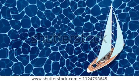 парусного яхта иллюстрация белый воды океана Сток-фото © ConceptCafe