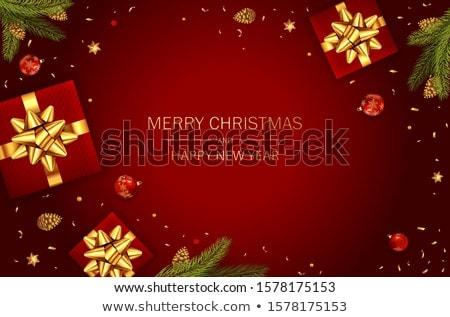 Christmas bont boom grens bal helling Stockfoto © barbaliss