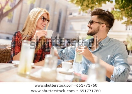 Woman talking to boyfriend at cafe Stock photo © IS2