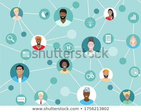 uomini · d'affari · lavoro · insieme · ufficio · internet · rete - foto d'archivio © alphaspirit