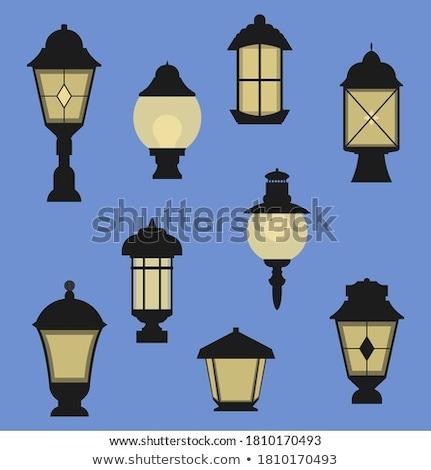 vector set of outdoor lamp Stok fotoğraf © olllikeballoon