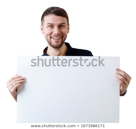 Young Businessman Standing with Sheet of Paper Stock photo © robuart