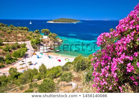 Idilliaco spiaggia view arcipelago mare verde Foto d'archivio © xbrchx