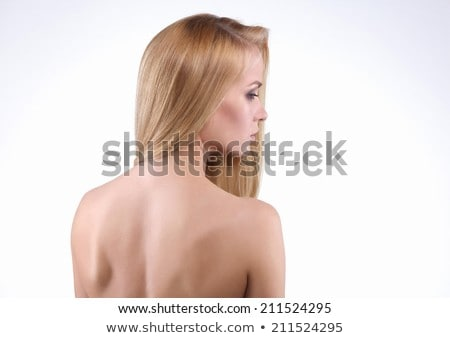 Moda model portre güzel genç kadın gri Stok fotoğraf © serdechny
