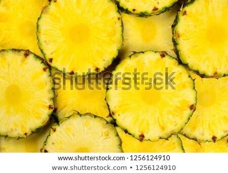 Makro ananas yeşil yaprakları doku gıda Stok fotoğraf © lichtmeister