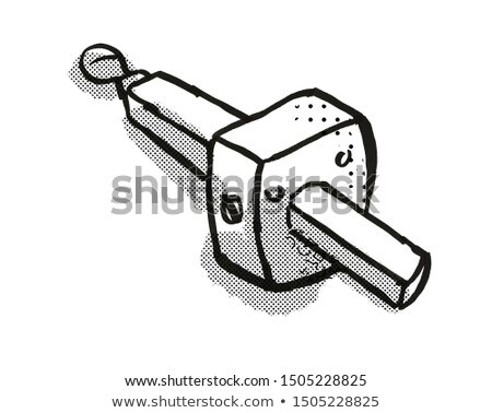 mortise gauge Woodworking Hand Tool Cartoon Retro Drawing Stock photo © patrimonio