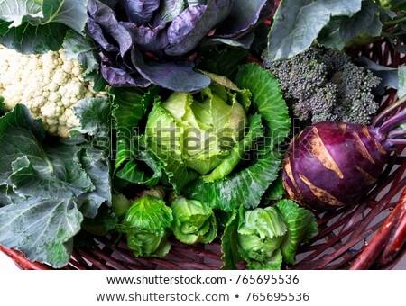Válogatás különböző zöldségek fából készült család étel Stock fotó © Alex9500