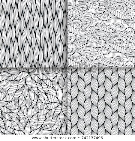 Conjunto vetor sem costura ondulado padrões listrado Foto stock © ExpressVectors