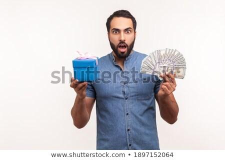 Tiro excitado barbado hombre ojos azules Foto stock © vkstudio