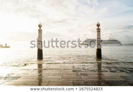 two posts at the embankment of Lisbon Stock photo © neirfy