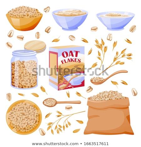 Cereales semillas vidrio jar vector Foto stock © pikepicture