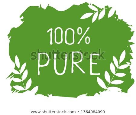 Vegan naturalismo produto adesivo etiqueta Foto stock © SArts