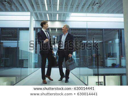 two businesspeople in corridor stock photo © photography33