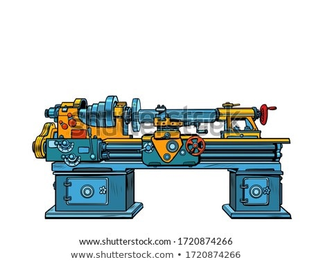Automated Lathe Machine Stock fotó © studiostoks
