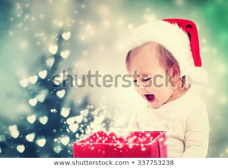 Santa baby smile Stock photo © get4net