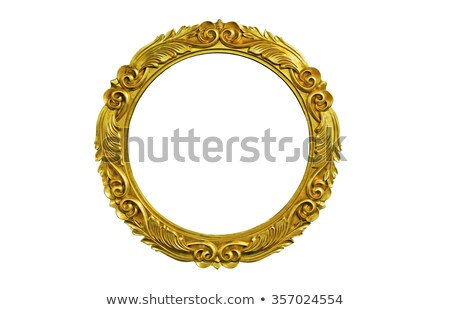 Carved emprty Frame for portrait or picture over white Stock photo © Arsgera